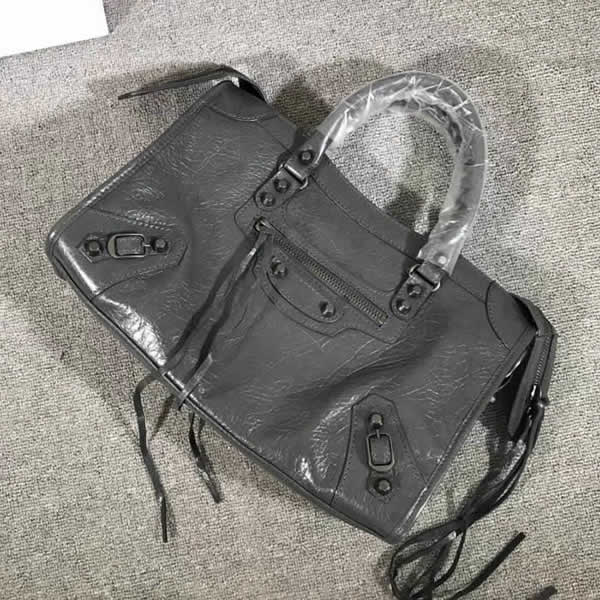Fake Balenciaga Gray Citys Sheepskin Locomotive Bag Tote Messenger Bag