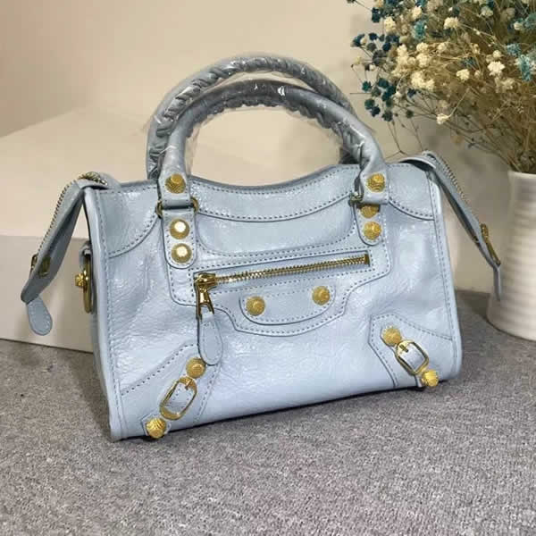 Replica Balenciaga Blue Mini City Motorcycle Bag Classic Bag