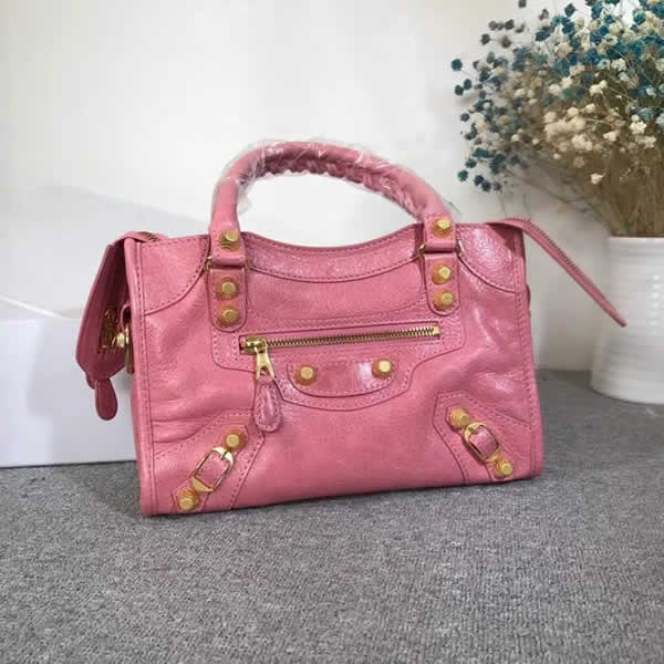 Replica Balenciaga Pink Mini City Motorcycle Bag Classic Bag