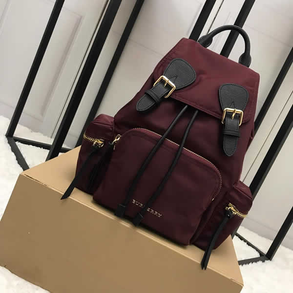 Fashion New Discount Burberry Red The Rucksack Military Backpack With 1:1 Quality