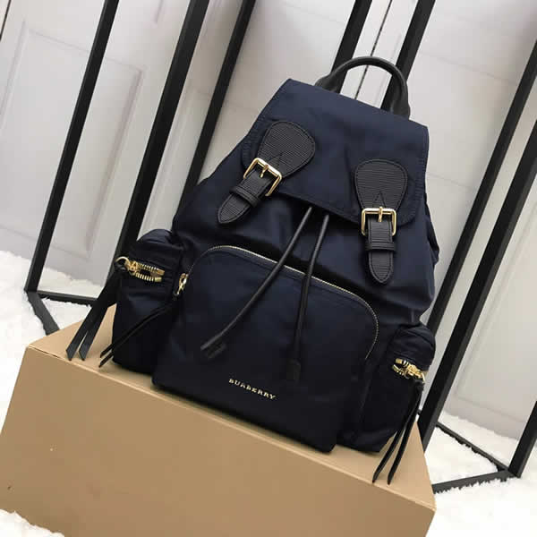 Fashion New Discount Burberry Blue The Rucksack Military Backpack With 1:1 Quality