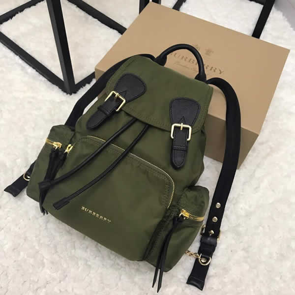 Fashion New Discount Burberry Green The Rucksack Military Backpack With 1:1 Quality
