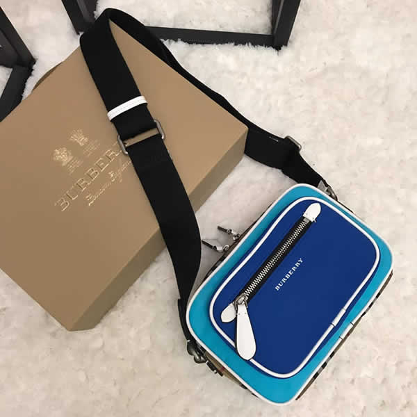 New Cheap Burberry Blue Vintage Crossbody Bags