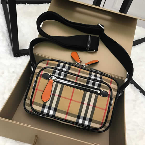 New Cheap Burberry Stripe Vintage Crossbody Backpack