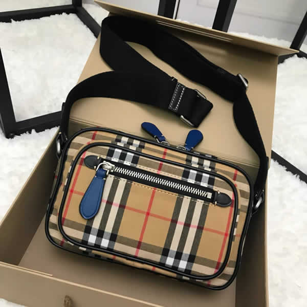 New Cheap Burberry Stripe Vintage Crossbody Shoulder Bags