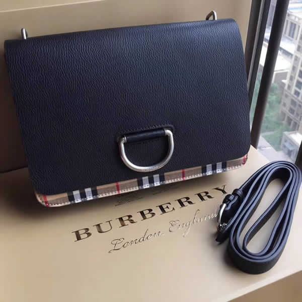 Fake New Burberry Black Vintage Trench Shoulder Crossbody Bag