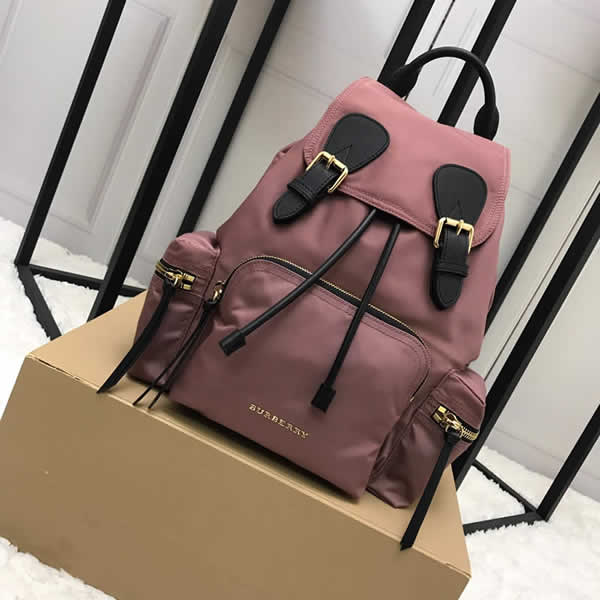 Fashion New Discount Burberry Pink The Rucksack Military Backpack With 1:1 Quality