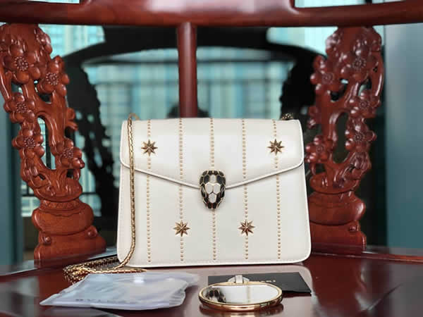 Bvlgari Serpenti Forever Handbag White Crossbody 23036 High Quality