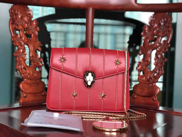 Bvlgari Serpenti Forever Red Handbag Crossbody 23036 High Quality
