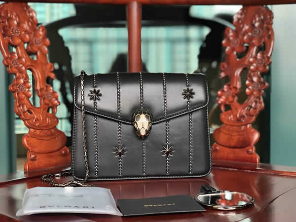 Bvlgari Serpenti Forever Black Handbag Crossbody 23036 High Quality