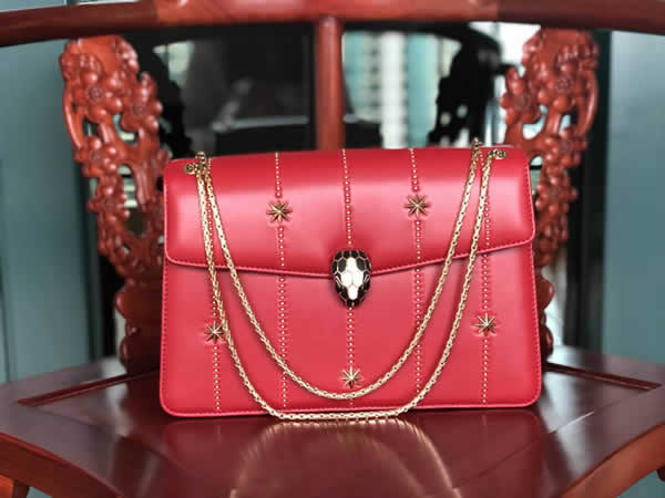 Bvlgari Serpenti Forever Handbag Red Crossbody 23036 High Quality