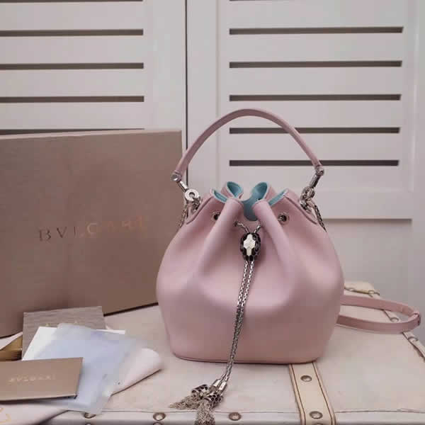 2019 New Bvlgari Pink Tote Shoulder Messenger Bag High Quality