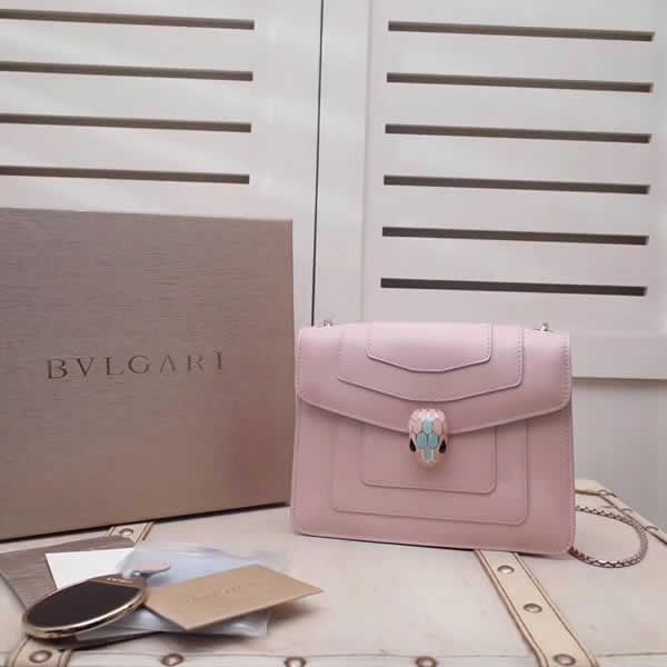 New Cheap Bvlgari Serpenti Forever Pink Shoulder Crossbody Bag