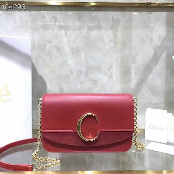 Replica Discount New Chloe Red Flap Shoulder Bag High Quality