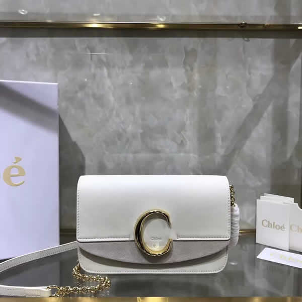 Replica Discount New Chloe White Flap Shoulder Bag High Quality