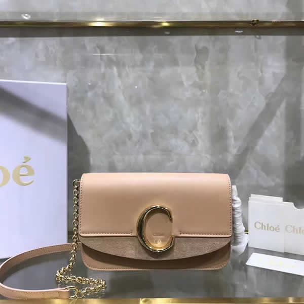 Replica Discount New Chloe Khaki Flap Shoulder Bag High Quality