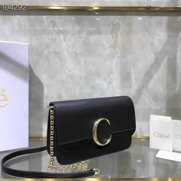 Replica Discount New Chloe Black Flap Shoulder Bag High Quality