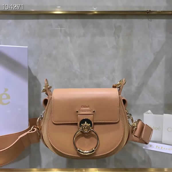 Replica Discount New Chloe Tess Brown Flap Shoulder Crossbody Bags