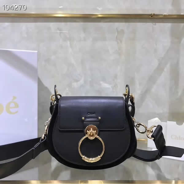 Replica Discount New Chloe Tess Black Flap Shoulder Crossbody Bags