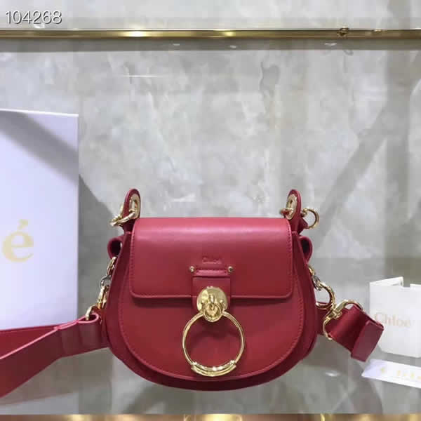 Replica Discount New Chloe Tess Red Flap Shoulder Crossbody Bags
