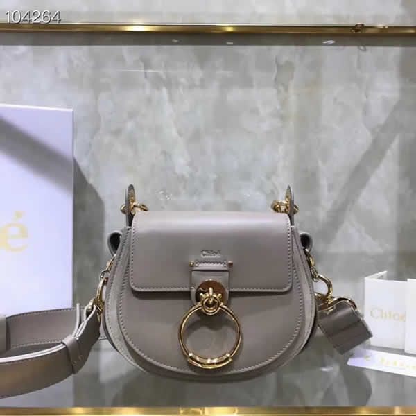 Replica Discount New Chloe Tess Gray Flap Shoulder Crossbody Bags