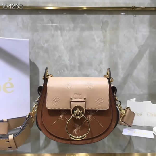 Top Quality Fake Chloe New Tess Saddle Bag Brown Piggy Bag
