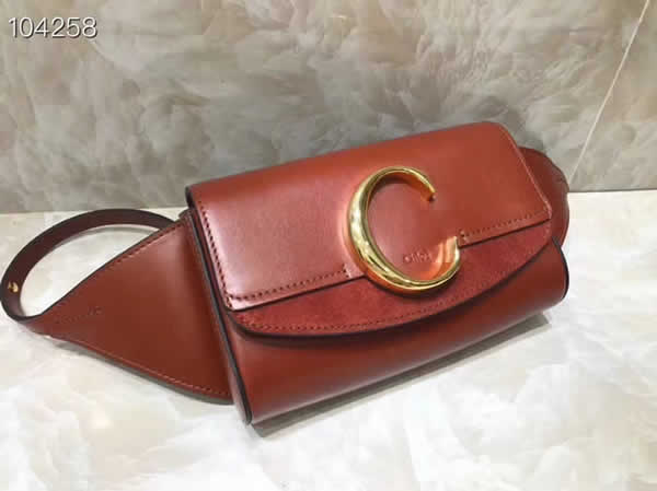 Hot Sale Fake Chloe Waist Bag Chest Bag Red Crossbody Bag