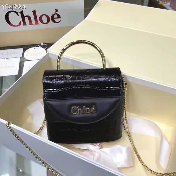 Cheap Fake New Chloe Aby Lock Bag Tote Black Shoulder Bag