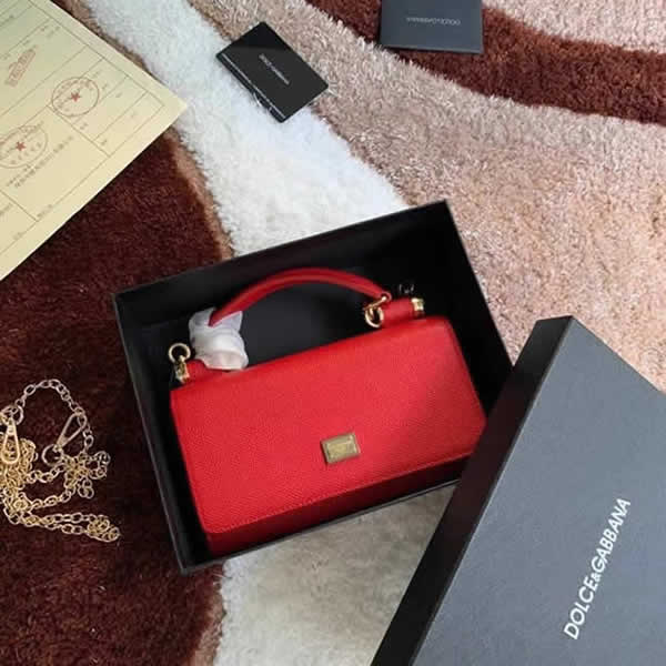 Fake Discount New Fashion Dolce & Gabbana Classic Red Flap Crossbody