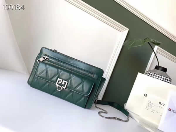 Replica Givenchy Autumn And Winter New Pocket Long Chain Green Shoulder Messenger Bag