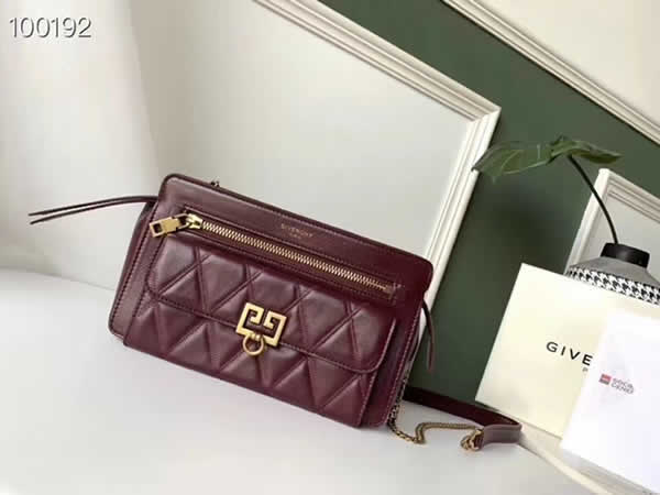 Replica Givenchy Autumn And Winter New Pocket Long Chain Red Shoulder Messenger Bag
