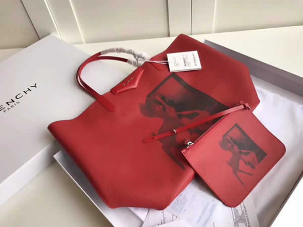 Fake Givenchy Bambi PVC Animal Collection Red Shopping Bag