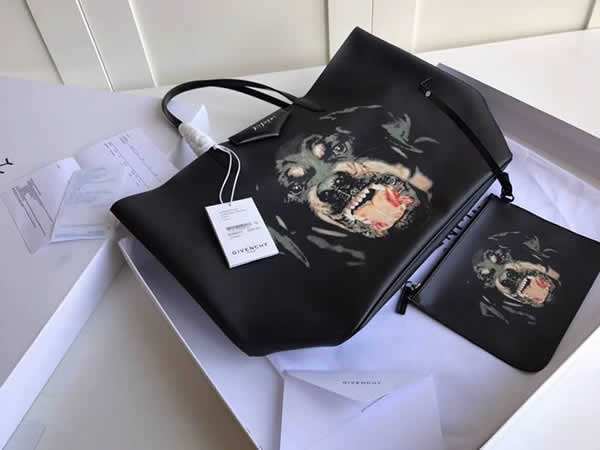 Fake Givenchy Bambi PVC Animal Collection Blue Shopping Bag