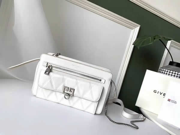 Cheap Givenchy New Pocket Chain White Shoulder Diagonal Bag