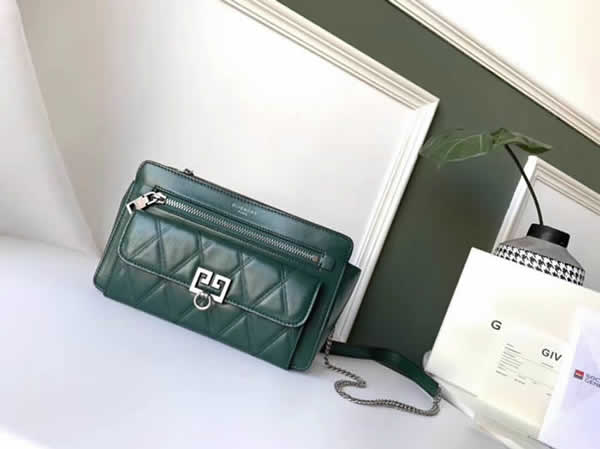 Cheap Givenchy New Pocket Chain Green Shoulder Diagonal Bag