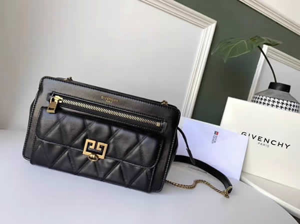 Cheap Givenchy New Pocket Chain Black Shoulder Diagonal Bag