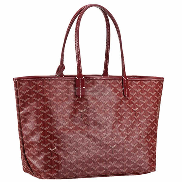 Fashion New Goyard St Louis Tote Dark Red Bags