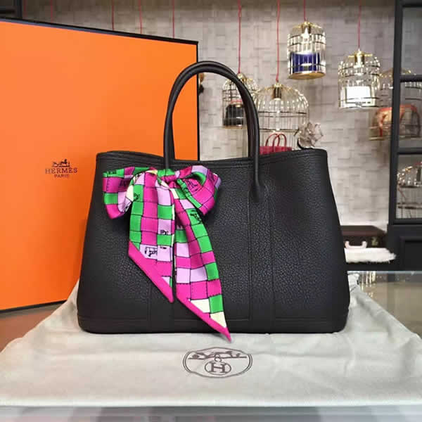 Hermes Garden Party 30cm Togo Calfskin Leather Palladium Hardware High Quality, Chocolate RS15574