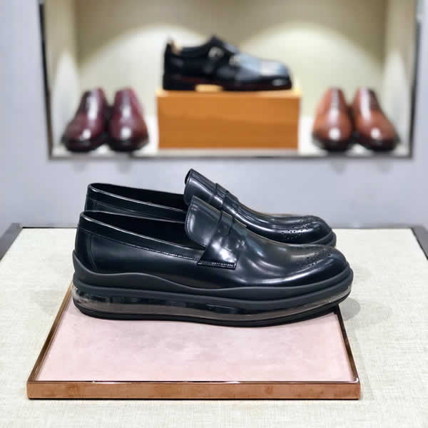 2020 New Prada Cheap Men's Leather Shoe Men Leather Casual Shoes Fashion Footwear