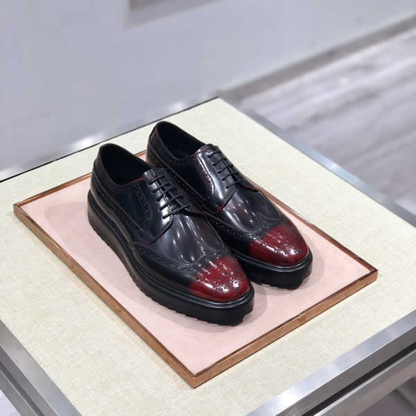 Men Dress Shoes Handmade Style Paty Prada Leather Shoes Men Flats Leather Oxfords Formal Shoes