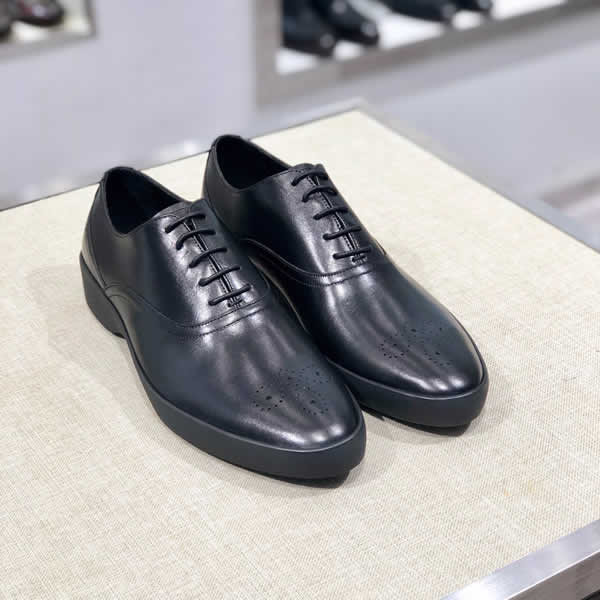 Luxury Business Oxford Prada Leather Shoes Men Formal Dress Shoes Male Office Wedding Flats Footwear