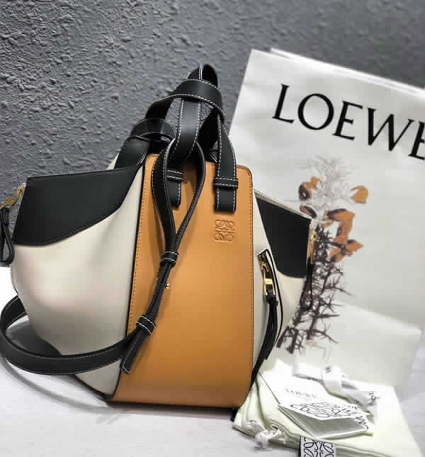 Fashion New Loewe Color Matching Macbook Tote Crossbody Bag