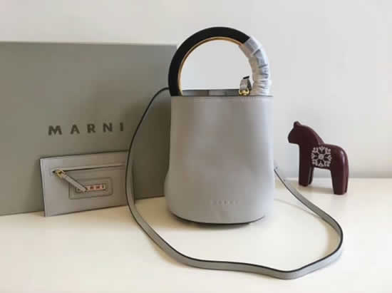 Replica Cheap Marni Pannier White Bucket Bags Outlet