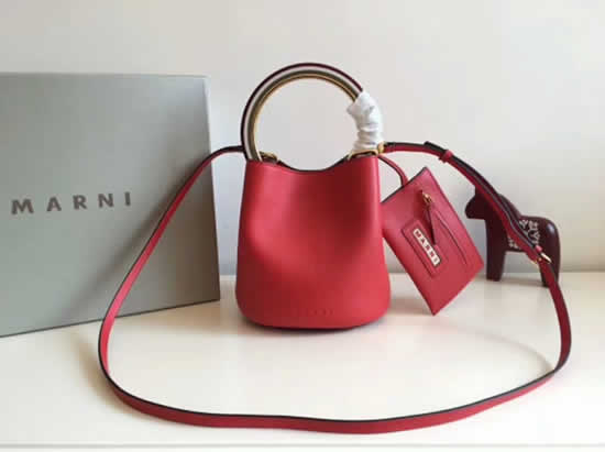 Replica Cheap Marni Pannier Red Bucket Bags Outlet