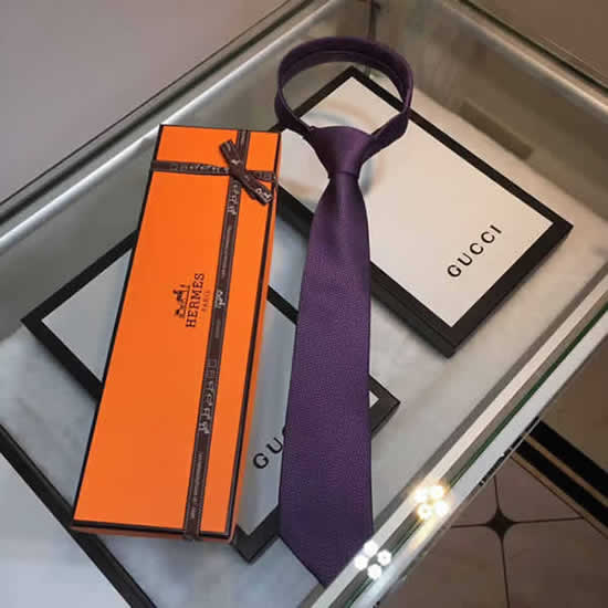 Classic Men Business Luxury Tie Replica Top Quality Hermes Ties 10