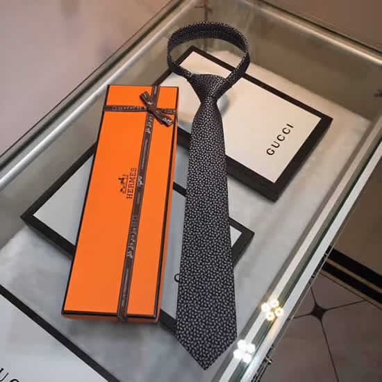 Classic Men Business Luxury Tie Replica Top Quality Hermes Ties 12