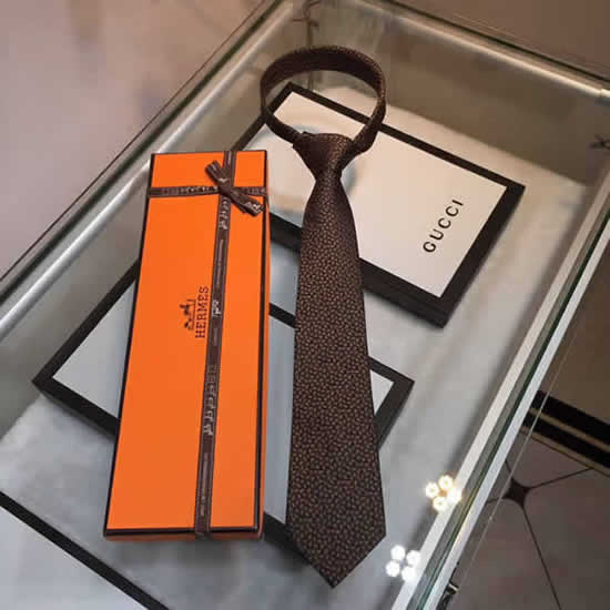 Classic Men Business Luxury Tie Replica Top Quality Hermes Ties 13