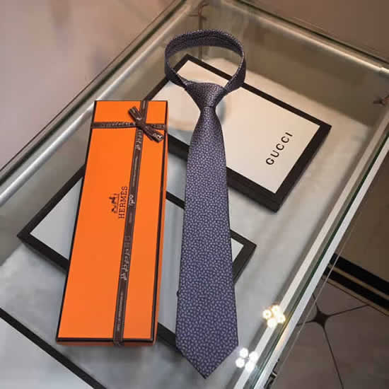 Classic Men Business Luxury Tie Replica Top Quality Hermes Ties 15