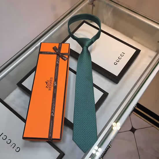 Classic Men Business Luxury Tie Replica Top Quality Hermes Ties 18