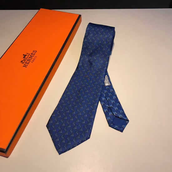 Classic Men Business Luxury Tie Replica Top Quality Hermes Ties 25